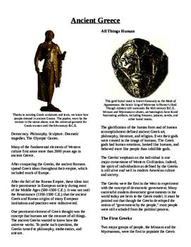 Informational Text - Ancient Greece (No Prep)