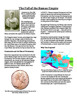 Informational Text - Ancient Rome: The Fall of the Roman E