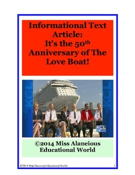 Informational Text Article: The Love Boat and the Rose Bow