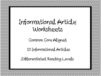 Informational Text Articles