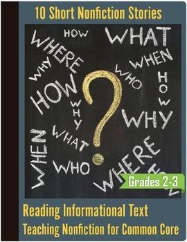 Informational Text Bundle (10) - Nonfiction Common Core -