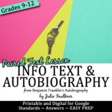Ben Franklin's Autobiography Mini Unit with Paired Text, K