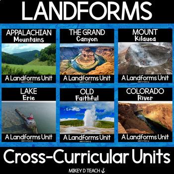Landforms - Informational Text Close Reading {BUNDLE}