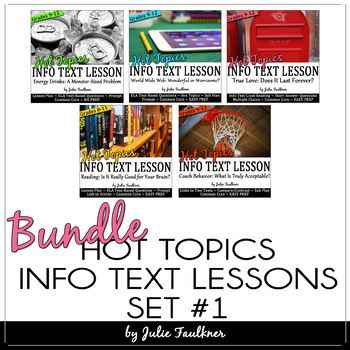 Nonfiction Close Reading Lesson on Hot Topics: BUNDLE of F