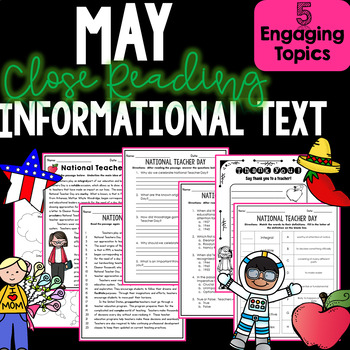 Informational Text Close Reading May-Comprehension, Author
