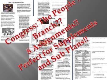 Informational Text - Congress Bundle (Sub Plans)