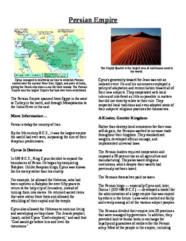 Informational Text - Early Middle East: Persian Empire (No Prep)