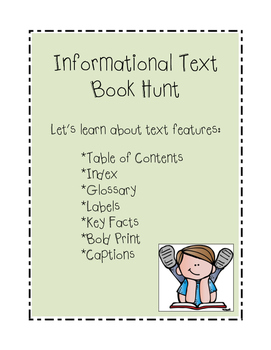 Informational Text Features Book Hunt