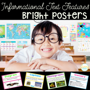 Informational Text Features- Bright Posters- Definitions a
