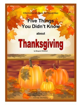 Informational Text for Thanksgiving--5 Things You Didn't K
