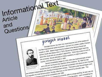 Informational Text: Georges Seurat & Questions