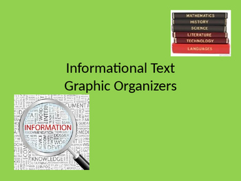 Informational Text Graphic Organizers