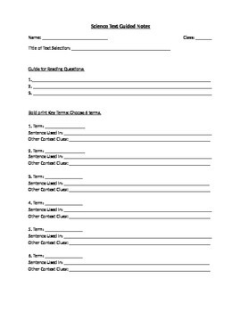 Informational Text Guided Notes