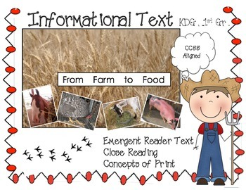 Informational Text ...Kindergarten...First Grade
