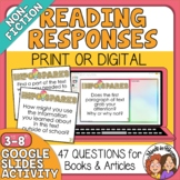 Informational Text Question Cards for Any Text - Close Reading +