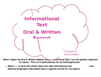 Informational Text Oral/Written Report