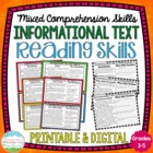 Informational Text Reading Skills Task Cards { Comprehension Skill Review }