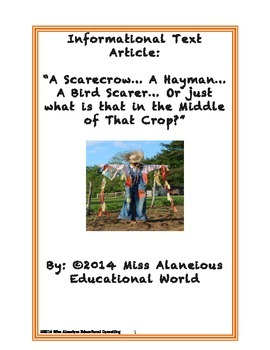 Informational Text: Scarecrows and Haymen ~ Who is Guardin