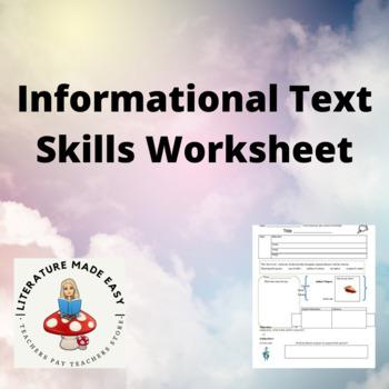 Informational Text Skills Worksheet