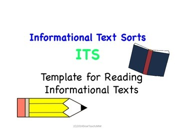 Informational Text Sorts ITS