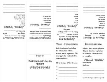 Informational Text Structure Foldable Book
