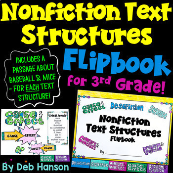 Informational Text Structures FLIPBOOK for 3rd Grade!
