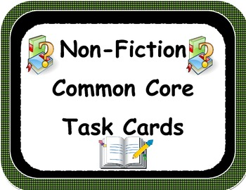 Informational Text Task Cards and More