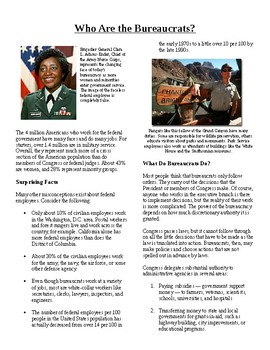 Informational Text - The Bureaucracy: Who is the Bureaucra