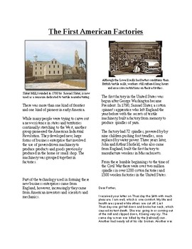 Info Reading Text-The Industrial Revolution: First America