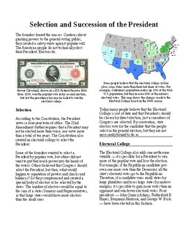 Informational Text - The Presidency: Selection and Success