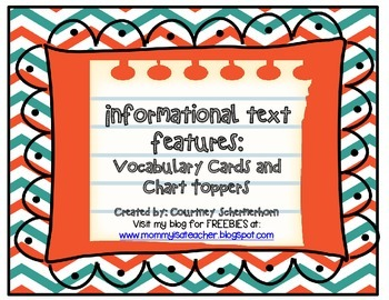 Vocabulary Cards-Informational Text (inc. Chart Toppers-Pu