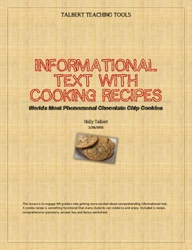 Informational Text With Cookie Recipe