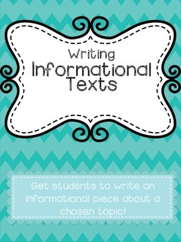 Informational Text Writing!