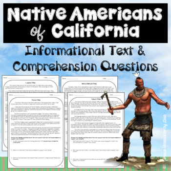 Native Americans of California - Informational Text and Co