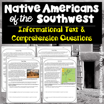Native Americans of the Southwest-Informational Text and C