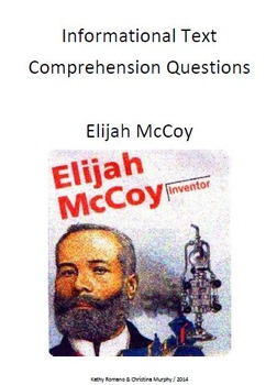 Informational Text and Comprehension Questions for Elijah McCoy