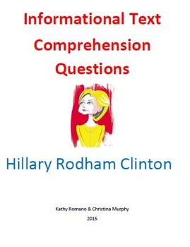 Informational Text and Comprehension Questions for Hillary