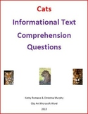 Informational Text and Comprehension Questions on Big Cats