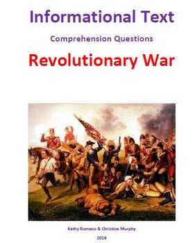 Informational Text and Comrehension Questions for Revoluti