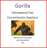 Informational Text on Gorillas