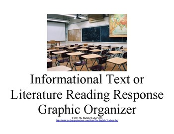 Informational Text or Literature Reading Response Graphic