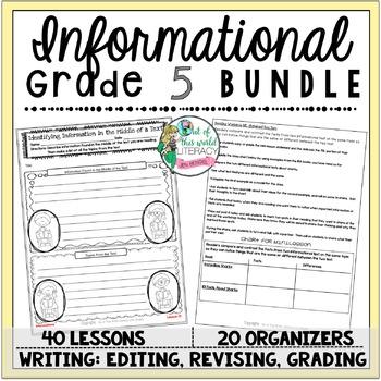 Informational Unit of Study: Grade 5 BUNDLE