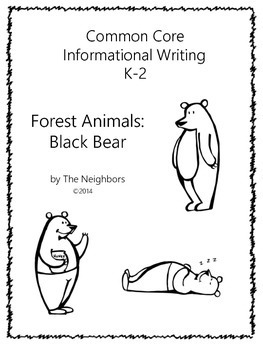 Informational Writing Forest Animals Bears