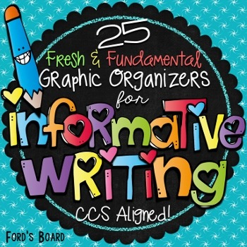 Informational Writing Graphic Organizers: Common Core Aligned