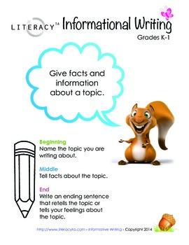 Informational Writing Poster K-1