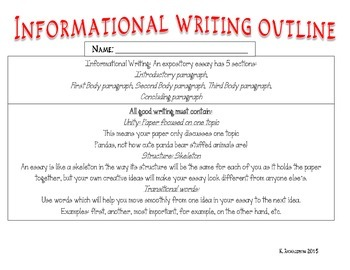 Informational Writing Research guide and outline