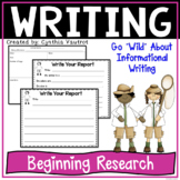 Informational Writing {Beginning Research}