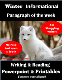 Informational Writing for Struggling Writers Winter-Writin