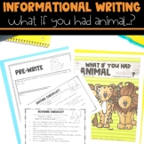 Informational Writing with What if you had Animal Feet & Hair?!