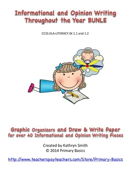 Informational and Opinion Writing Bundle